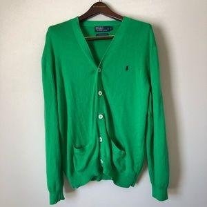 Polo Ralph Lauren Green Sweater Size L NWOT